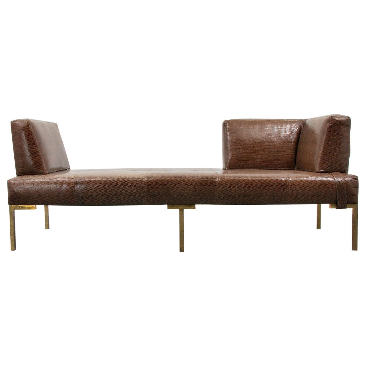 Luigi Gentile Leather Daybeds Or Chaise Lounges, Two Available Throughout Trendy Daybed Chaises (View 11 of 15)