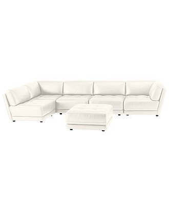 Macys Leather Sectional Sofas With Regard To Famous Vice Versa 6 Piece Modular Tufted Leather Sectional – Sectionals (View 6 of 10)