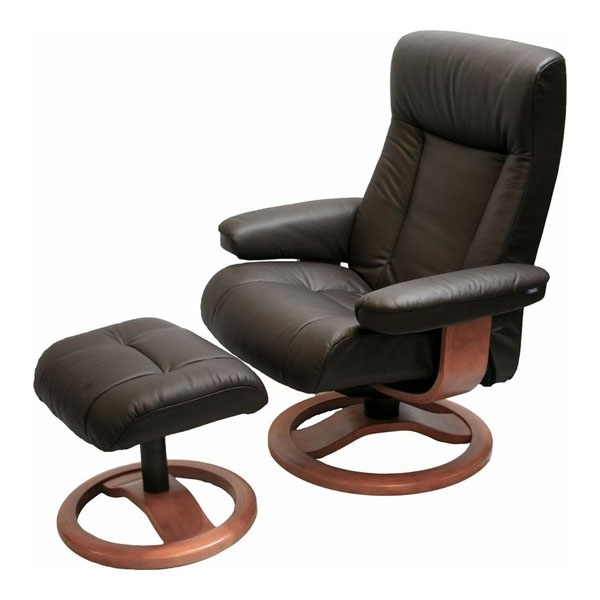 Magnificent Chairs With Ottoman Scansit 110 Ergonomic Leather Pertaining To Current Chairs With Ottoman (View 2 of 10)