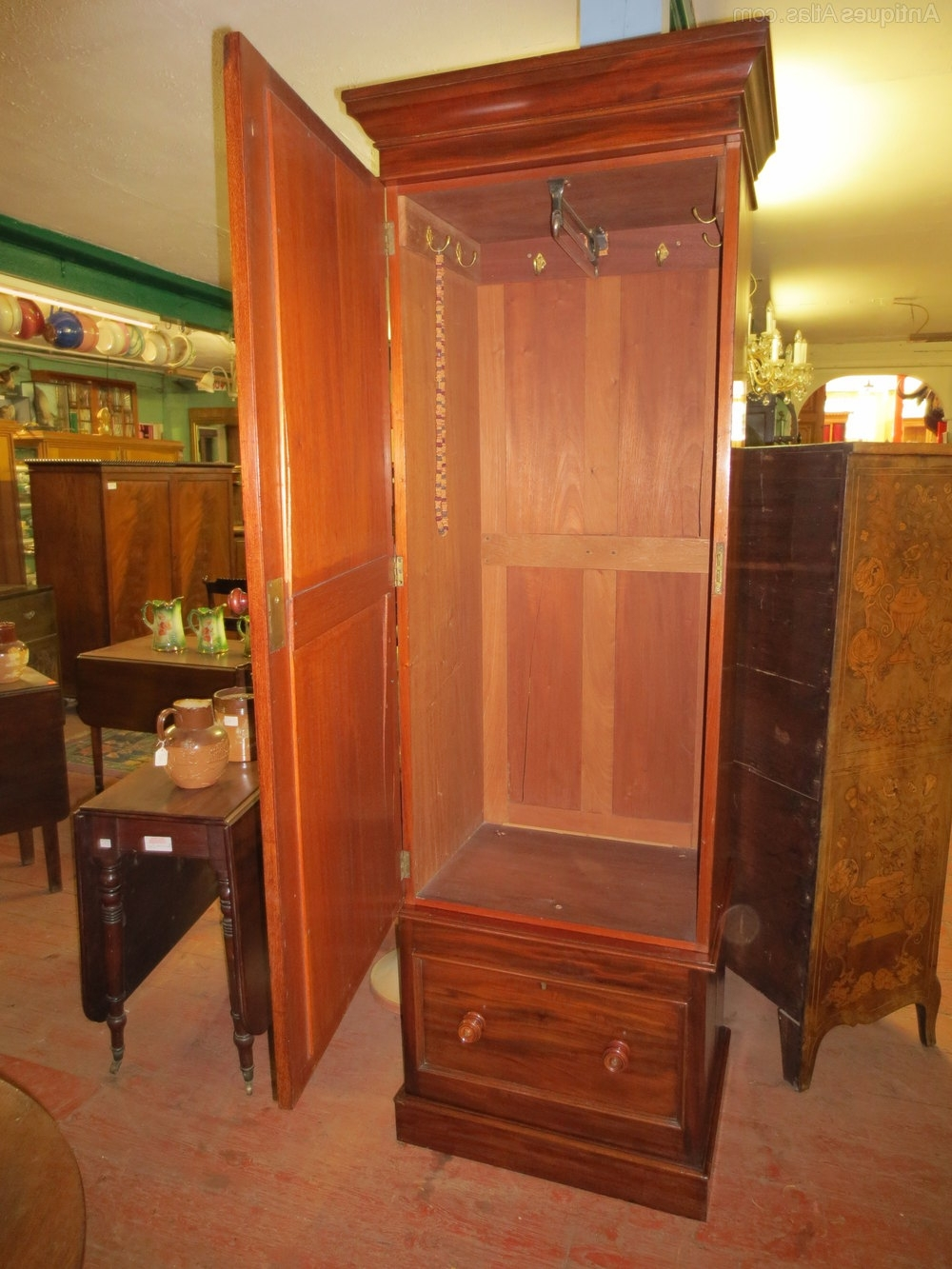 Mahogany Single Wardrobe – Antiques Atlas Intended For Fashionable Antique Single Wardrobes (View 12 of 15)