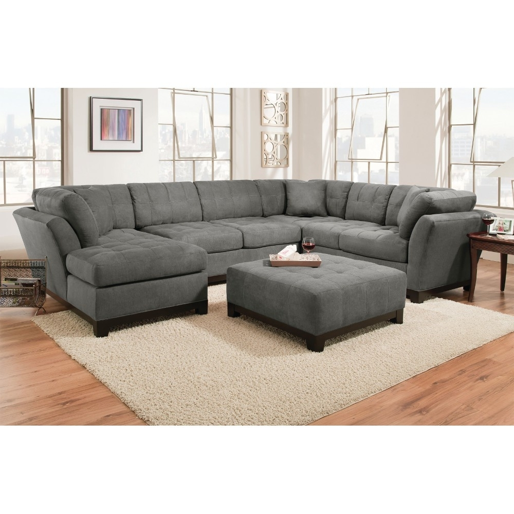 Manhattan Sectional – Sofa, Loveseat & Rsf Chaise – Slate In Fashionable Loveseats With Chaise (View 9 of 15)