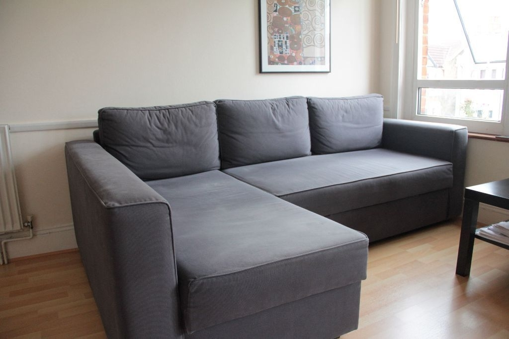 Manstad Sofas In Most Popular Ikea Manstad Corner Sofa Bed With Chaise  Longue And Storage U2013