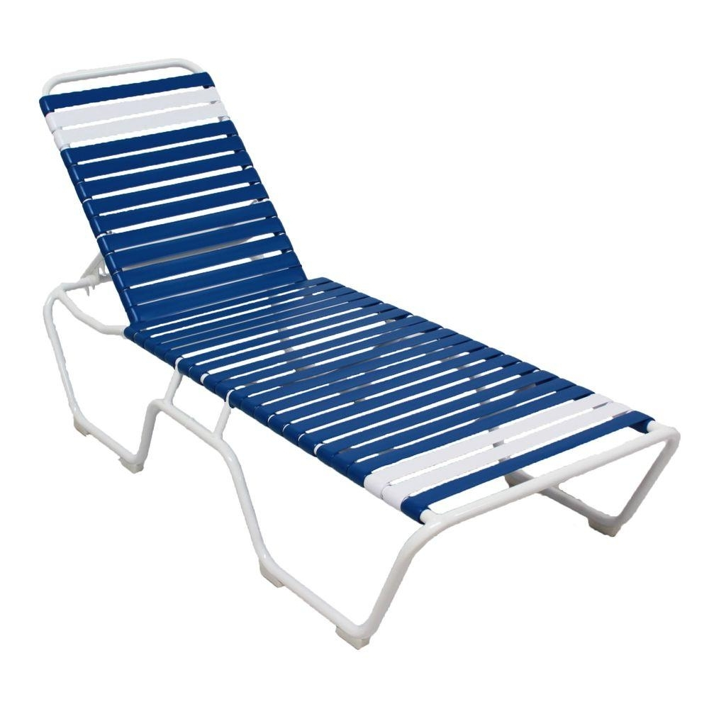 Marco Island White Commercial Grade Aluminum Vinyl Strap Outdoor For Most Current Blue Outdoor Chaise Lounge Chairs (View 7 of 15)