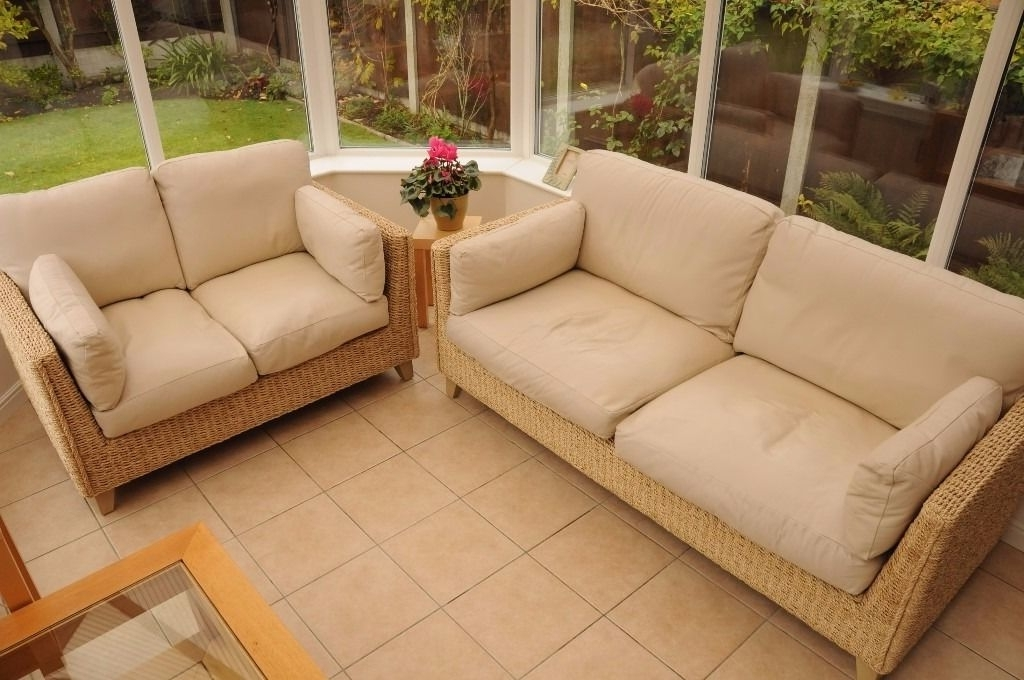Marks & Spencer Conservatory Sofas In Rattan And Leather (View 6 of 10)