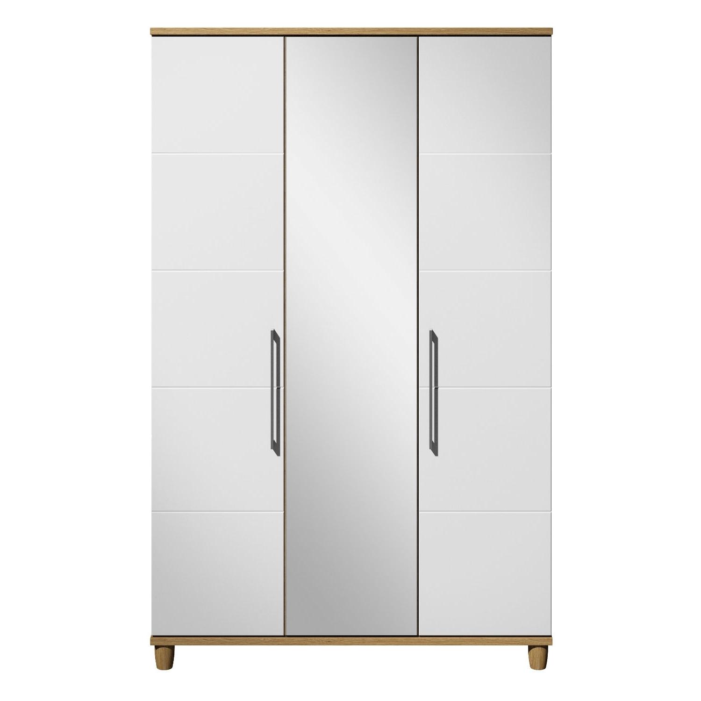 Marlena 3 Door Mirrored Wardrobe (View 14 of 15)