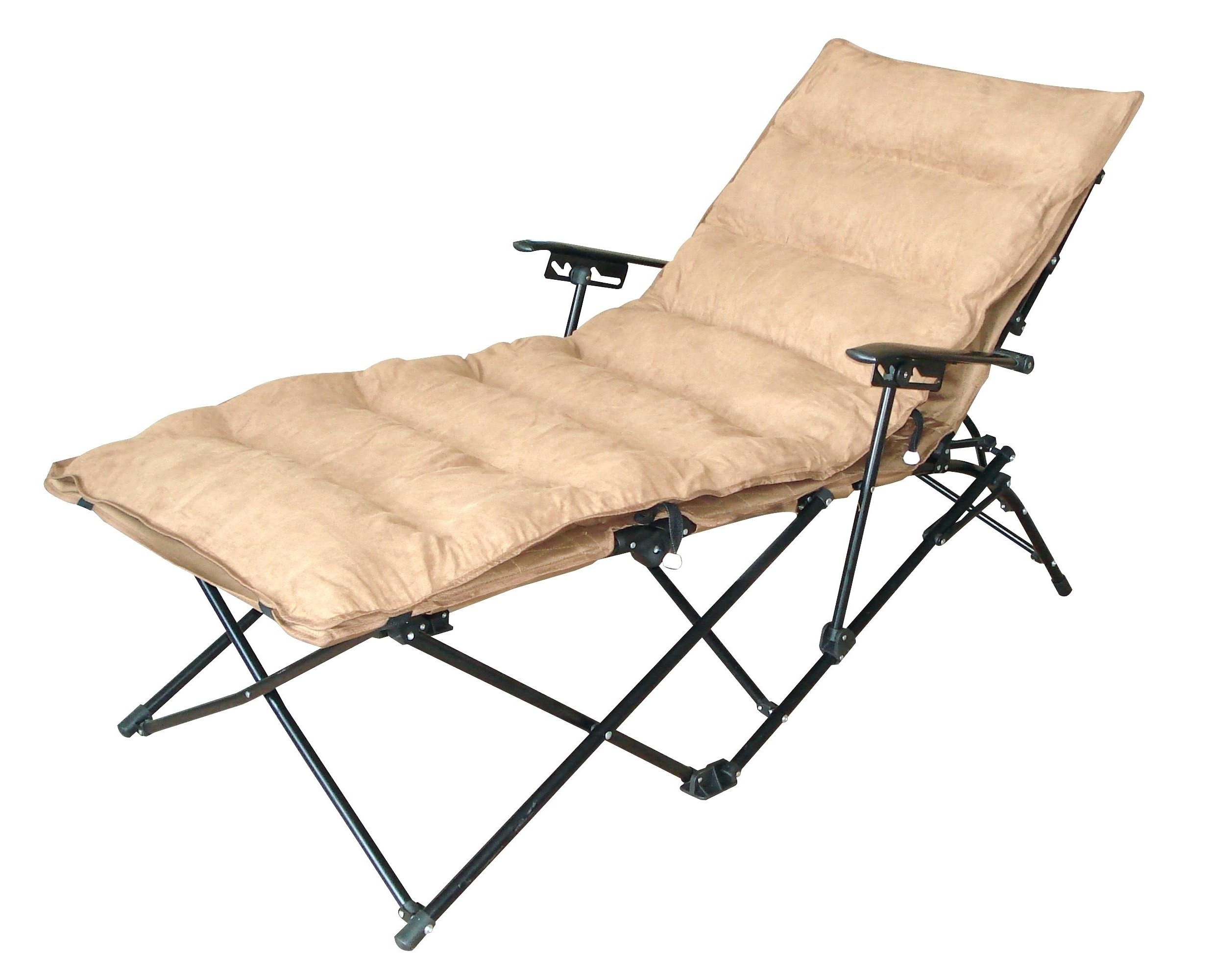 Maureen Outdoor Folding Chaise Lounge Chairs Pertaining To 2017 Folding Chaise Lounge Chair With Cup Holder • Lounge Chairs Ideas (View 8 of 15)