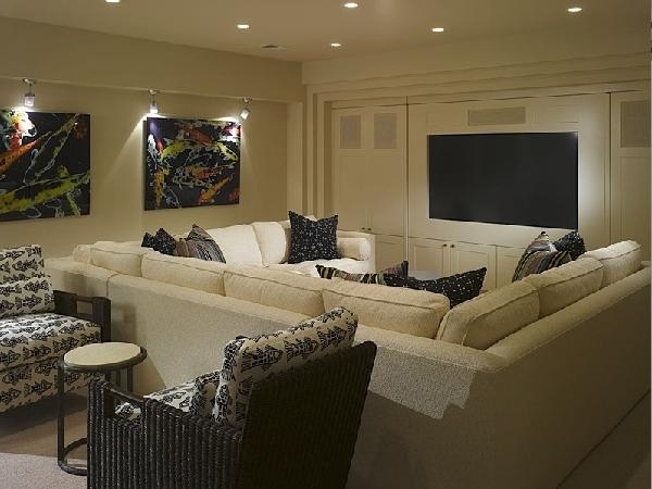 Media Room Sectional Sofas For Most Recently Released Pit Sectional – Contemporary – Media Room (View 3 of 10)