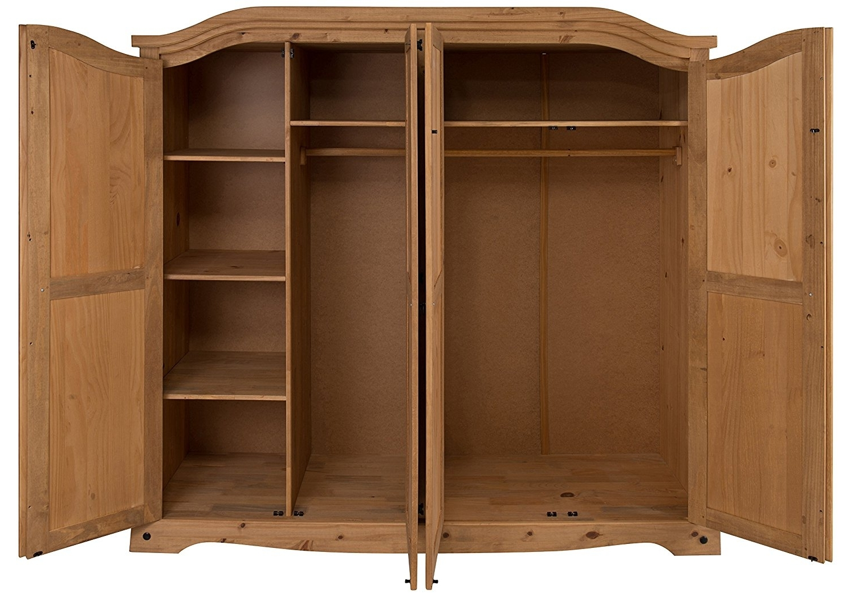 Mercers Furniture Corona 4 Door Arch Top Wardrobe: Amazon.co (View 7 of 15)