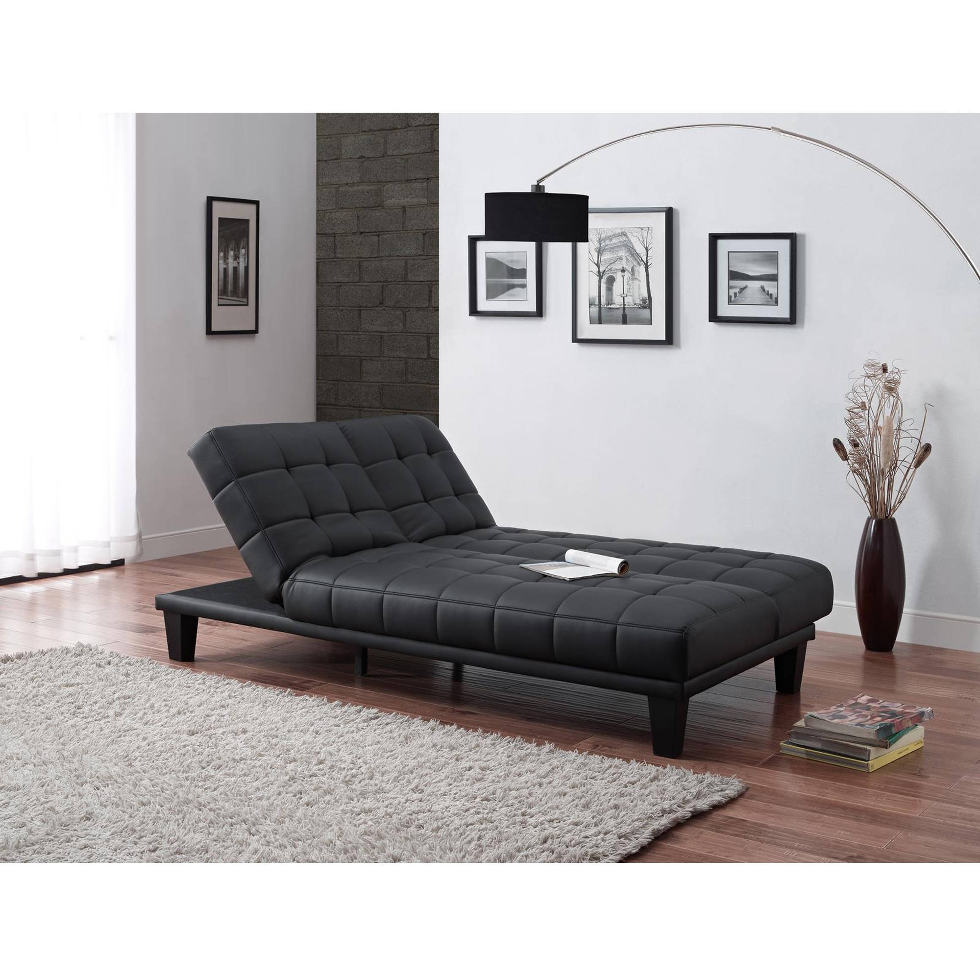 Metropolitan Futon Lounger, Multiple Colors – Walmart With 2017 Futons With Chaise Lounge (View 5 of 15)