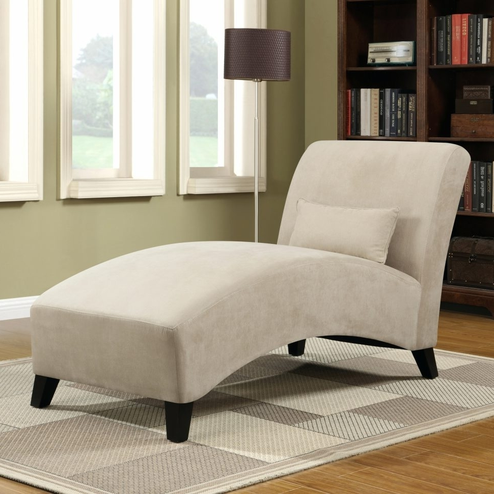 Microfiber Chaise Lounges Regarding Well Known Lounge Chair : Comfy Chaise Lounge Chair Bench Chaise Microfiber (View 14 of 15)