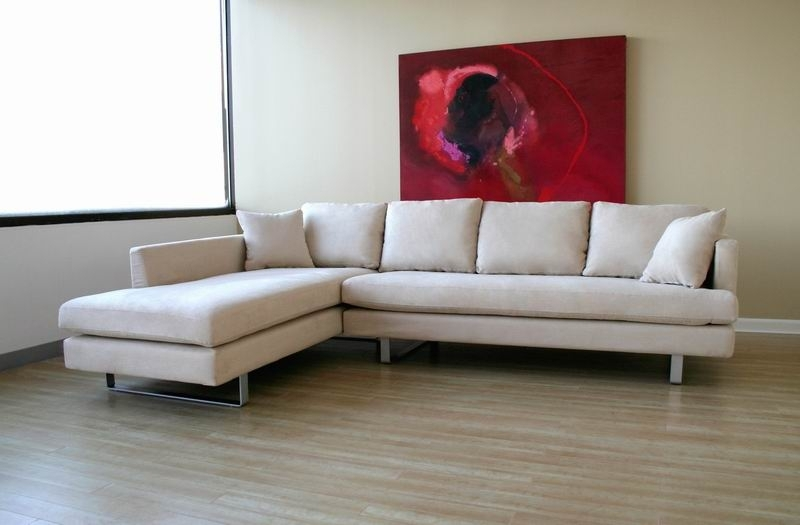 Microfiber Modern Sectional Sofa – $1, (View 9 of 10)