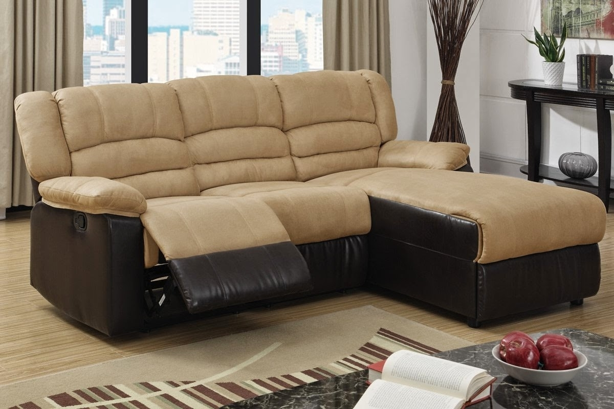 Microfiber Recliner Couch Chaise Within Trendy Reclining Sofas With Chaise (View 7 of 15)