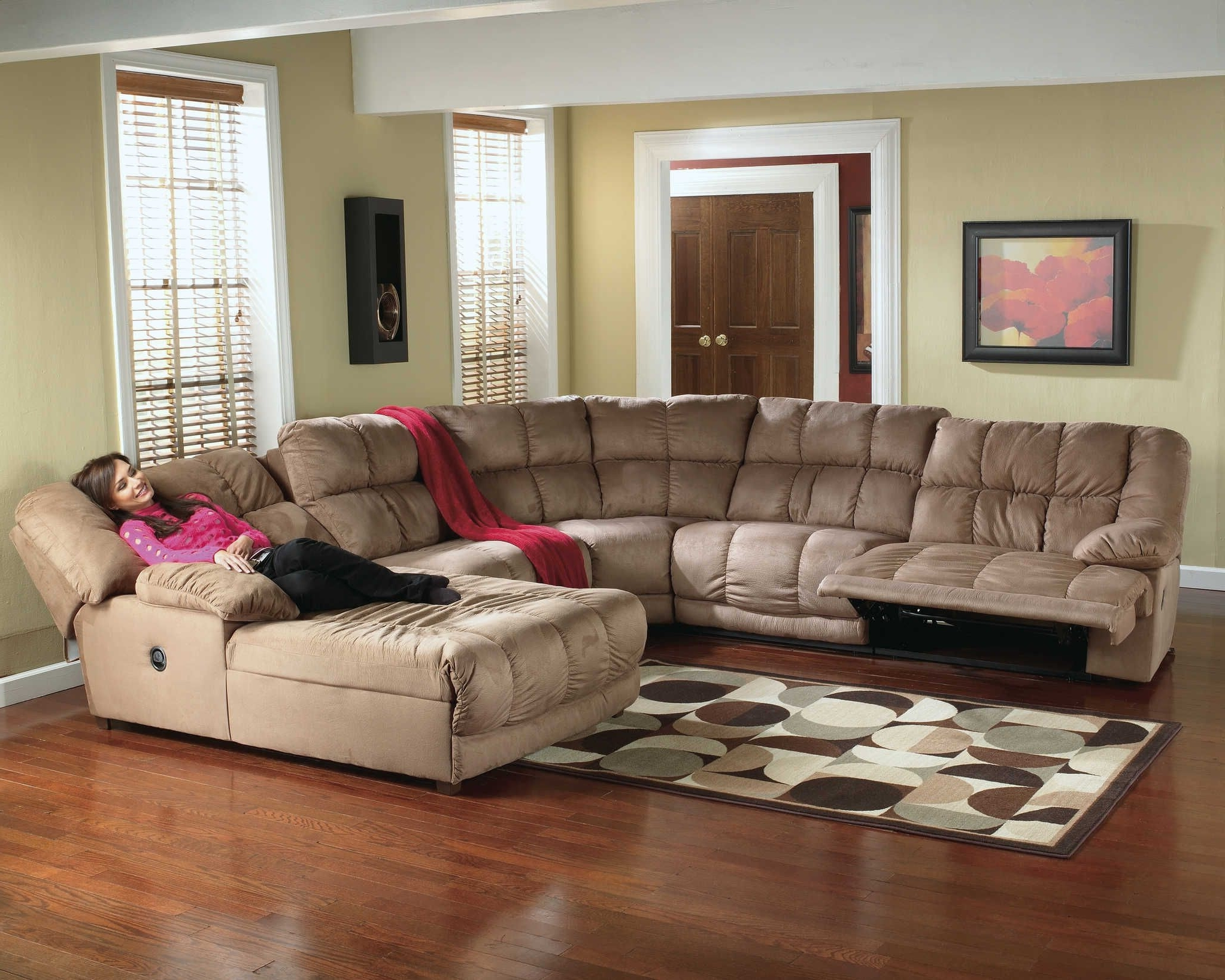 Microfiber Recliner Sectional (View 7 of 15)