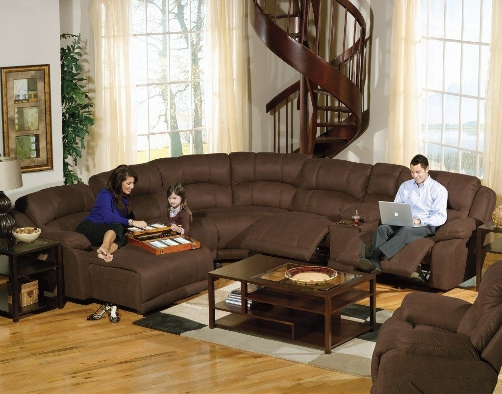Microfiber Sectional Intended For Favorite Reclining Sectionals With Chaise (View 6 of 15)