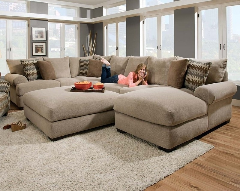 Microfiber Sectional Sofa With Ottoman – Foter Regarding Fashionable Sectional Sofas With Ottoman (View 5 of 16)