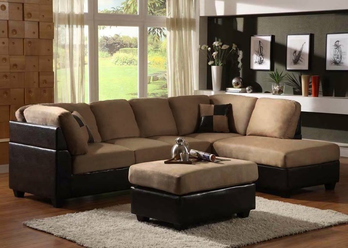 Microfiber Sectional Sofas With Chaise In Most Current Sectional Sofa Design: Sectional Sofa Chaise Lounge Sleeper (View 4 of 15)