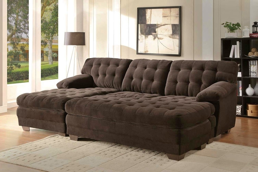Microfiber Sectional With Oversized Ottoman — House Plan And Intended For Latest Sectional Sofas With Oversized Ottoman (View 3 of 10)