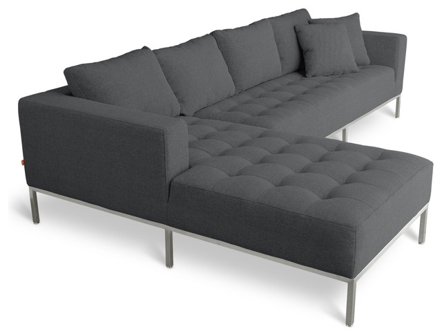 Microfiber Sleek Sectional Sofa: 13 Awesome Sleek Sectional Sofas Inside Fashionable Sleek Sectional Sofas (View 3 of 10)
