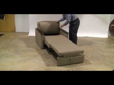 Miller Four Position Pull Out Chair/sleeper – Youtube Pertaining To Well Known Pull Out Sofa Chairs (View 6 of 10)