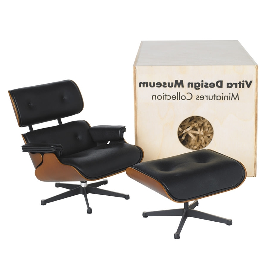 Mini Chaise Lounge Chairs For Newest Vitra Miniature Eames Lounge Chair And Ottoman (View 9 of 15)