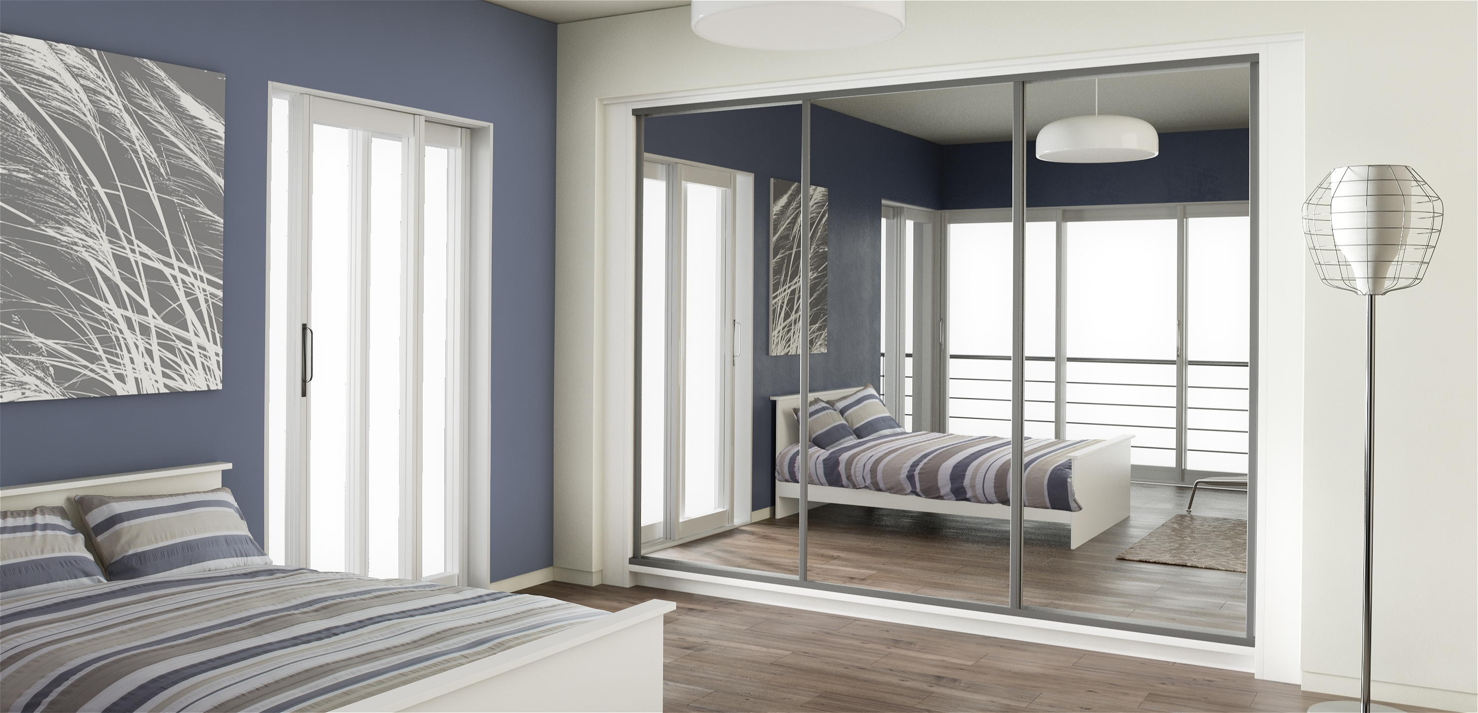 Mirror Wardrobes For Latest Mirror Design Ideas: Robes Brand Bedroom Mirrored Wardrobes Lens (View 6 of 15)