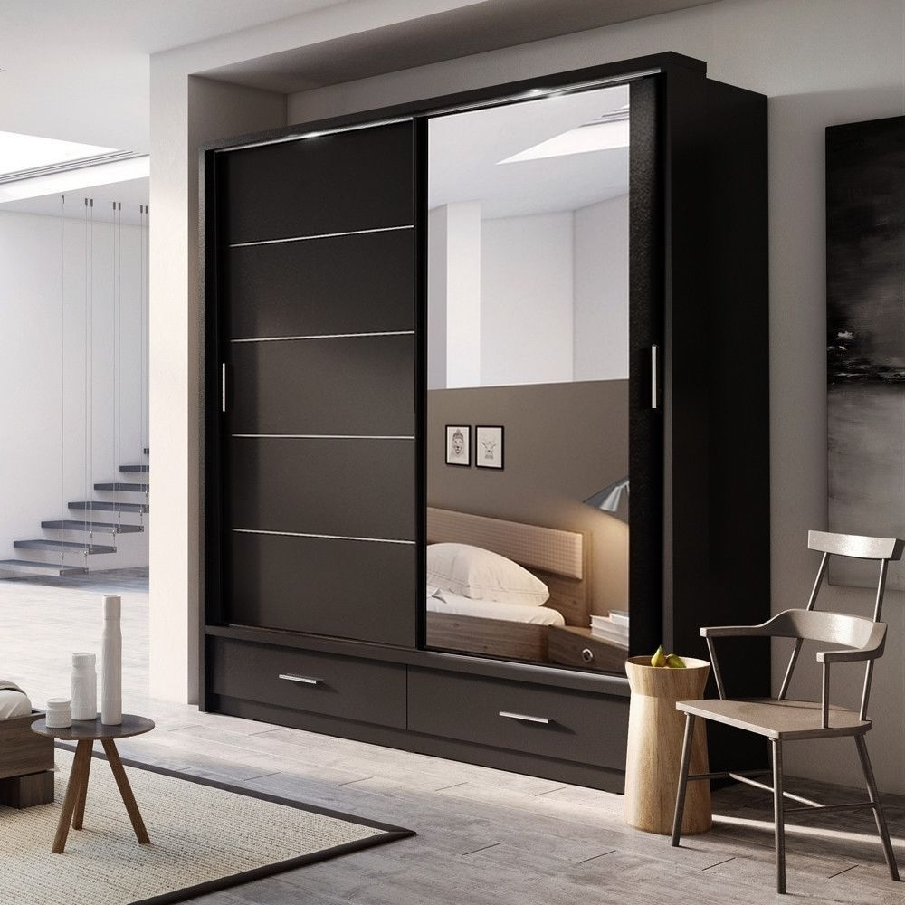 Mirrored Wardrobes With Drawers Pertaining To Widely Used Mirrored Wardrobe Style — Home Design Ideas : Elegant Mirrored (View 9 of 15)