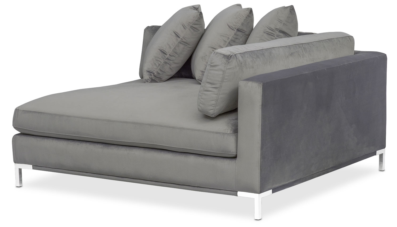 Moda 3 Piece Sectional With Right Facing Chaise – Gray (View 12 of 15)