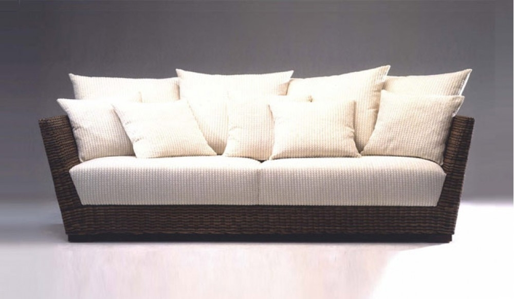 Modern 3 Seater Sofas For Well Liked Prado Conservatory 3 Seater Sofa – Designer Rattan Style – Modern (View 9 of 10)