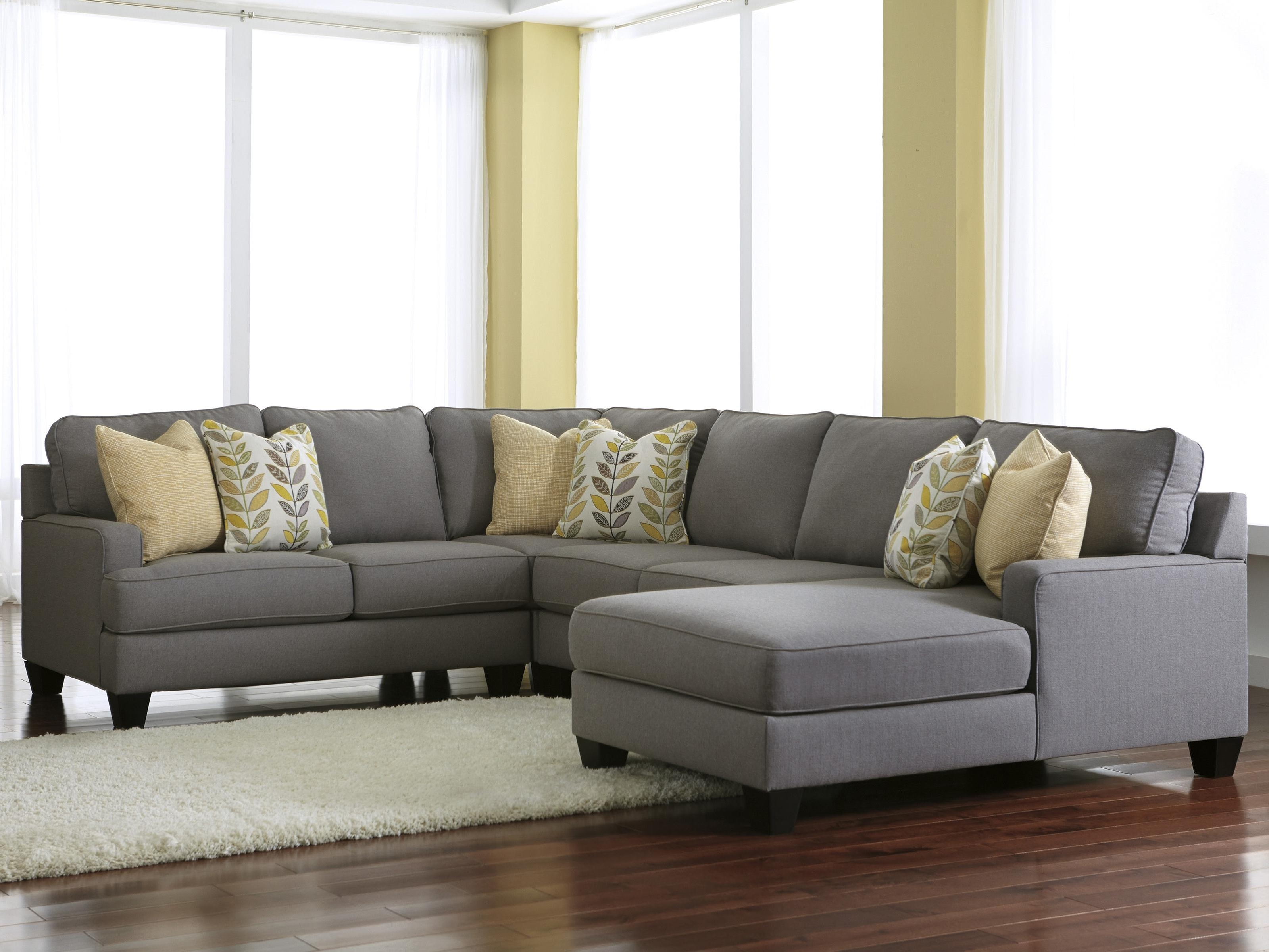 Modern 4 Piece Sectional Sofa With Left Chaise & Reversible Seat With Regard To Preferred Chaise Sofa Sectionals (View 15 of 15)