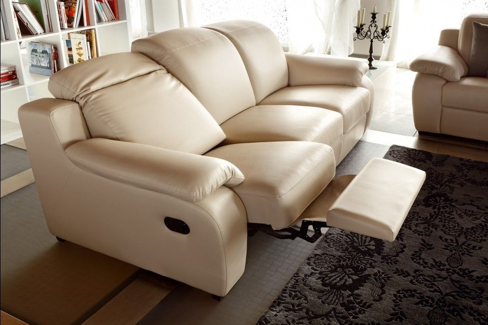Modern Reclining Leather Sofas Inside Recent Modern Reclining Sofa Beige : The Holland – Modern Reclining Sofa (View 4 of 10)