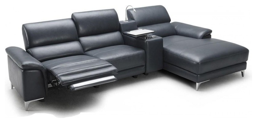 Modern Reclining Leather Sofas Pertaining To Popular Modern Recliner Couch  Sleek Reclining Sofa Modern Reclining (