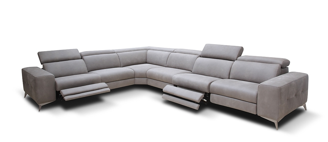 Modern Reclining Sectional Sofa Leather — Fabrizio Design : Cool Throughout Well Liked Modern Reclining Leather Sofas (View 7 of 10)