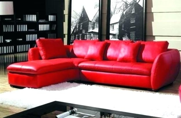 Modern Red Leather Sectional Sofa With Chair Modern Living Red In 2018 Red Faux Leather Sectionals (View 4 of 10)