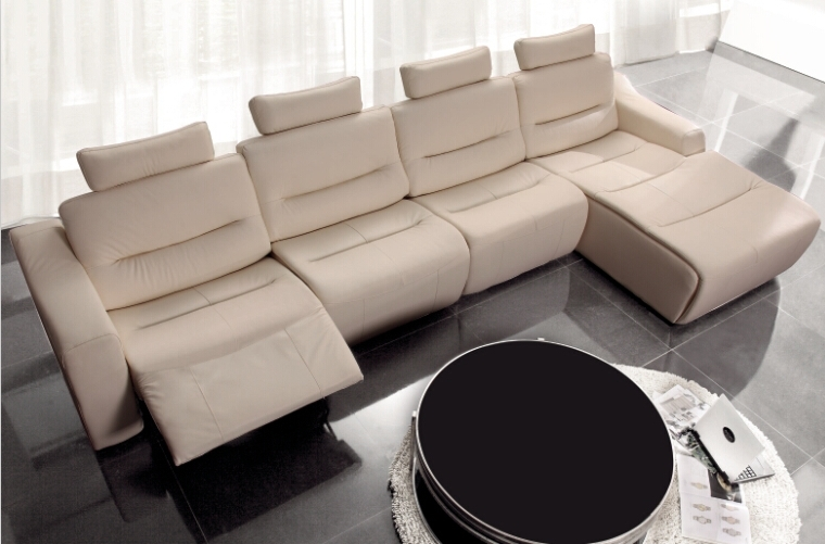 Modern Sofa Set L Shape Sofa Set Designs Recliner Leather Sofa Set In Most Recent Modern Reclining Leather Sofas (View 8 of 10)