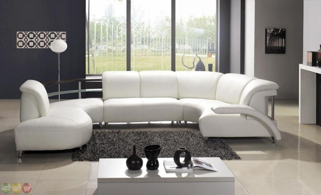 Modern U Shaped Sectional Sofas In Widely Used Casa Julio Modern U Shaped White Leather Sectional Sofa (View 9 of 10)