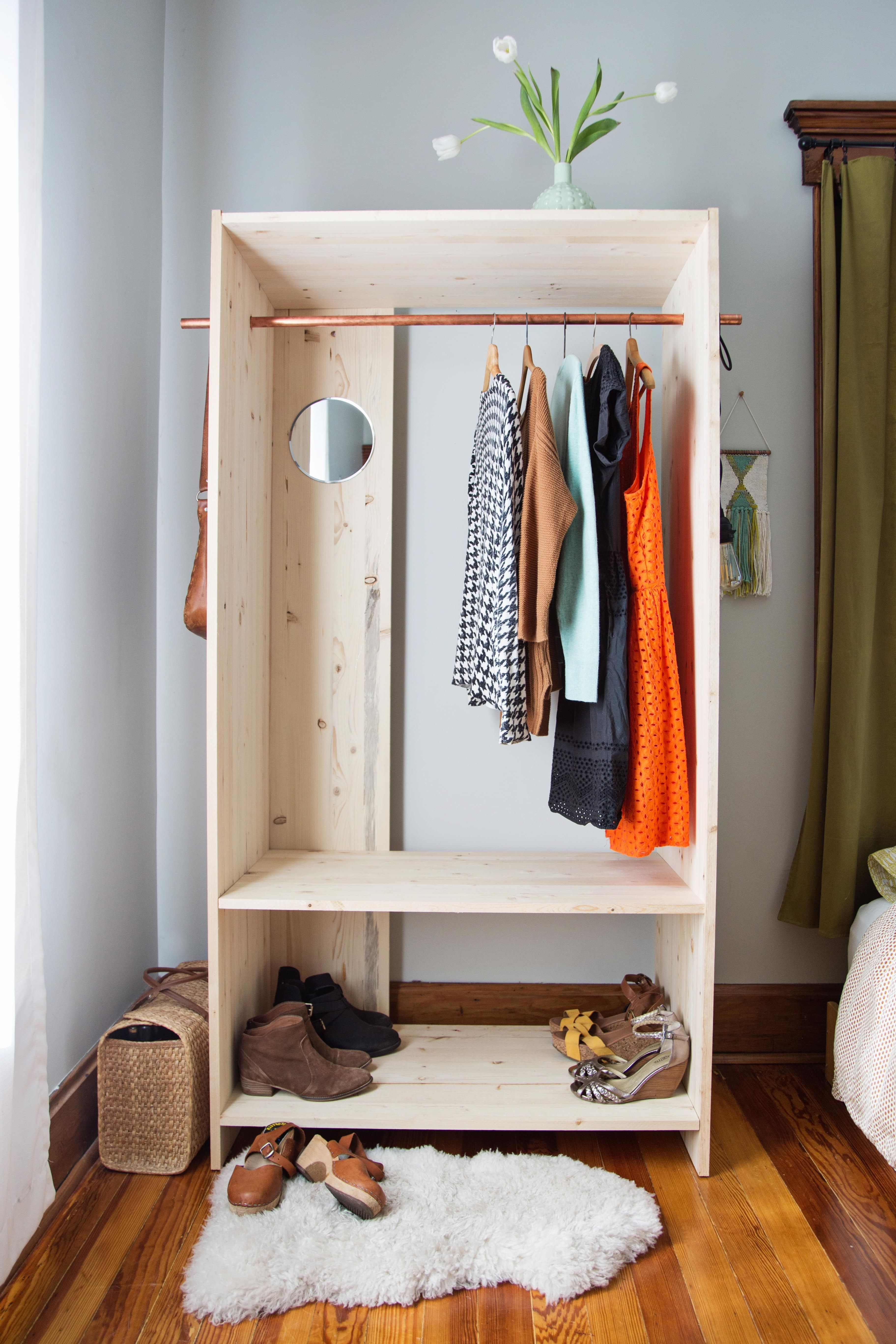 Modern Wooden Wardrobe Diy (A Beautiful Mess) (View 9 of 15)