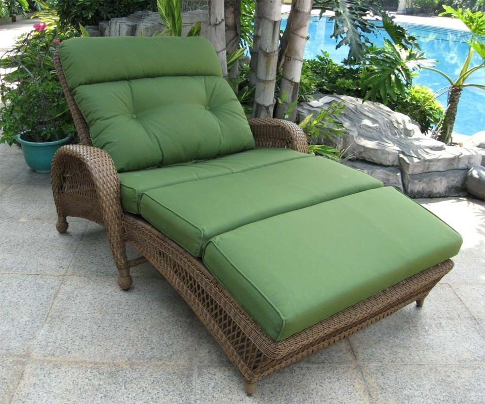Most Comfortable Outdoor Lounge Chair Gallery Including Comfy Most Intended For Fashionable Green Chaise Lounge Chairs (View 10 of 15)