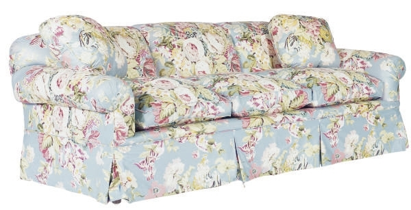 Most Current A Three Seat Floral Chintz Upholstered Sofa, (View 7 of 10)
