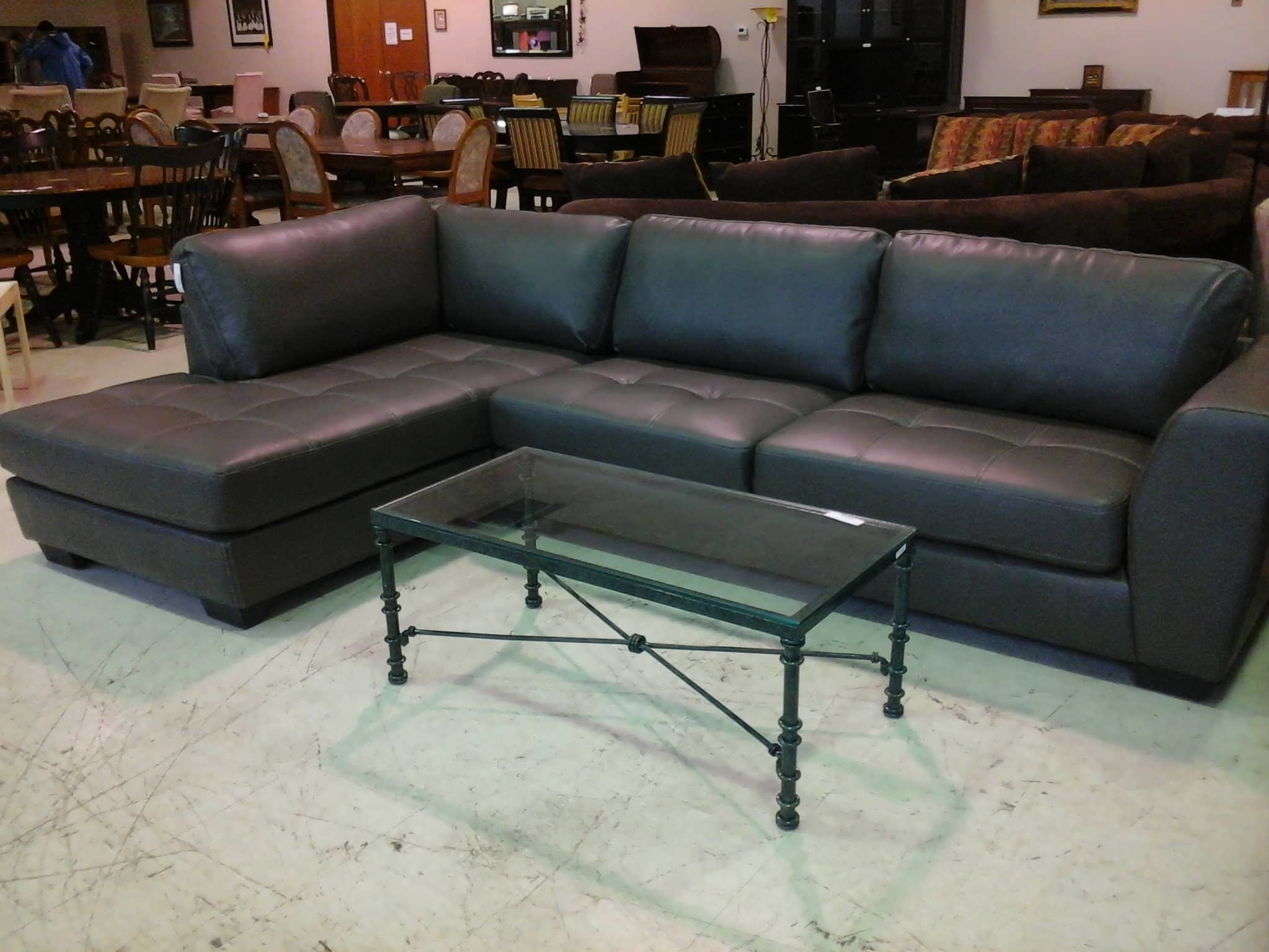 Most Current Black Leather Sectionals With Chaise With Sofa : Sleeper Sectional Small Leather Sectional Sectional (View 13 of 15)