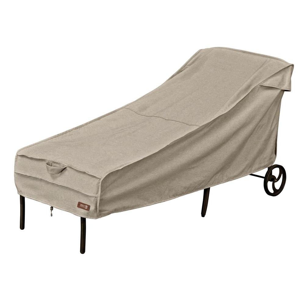 Most Current Chaise Lounge Covers Regarding Classic Accessories Veranda Patio Chaise Cover 78952 – The Home Depot (View 13 of 15)