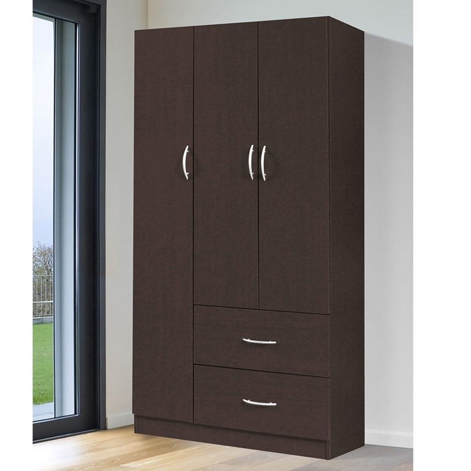 Most Current Cheap Wardrobes Regarding Furniture : Grey Armoire Wardrobe Solid Wood Armoire Cheap (View 13 of 15)
