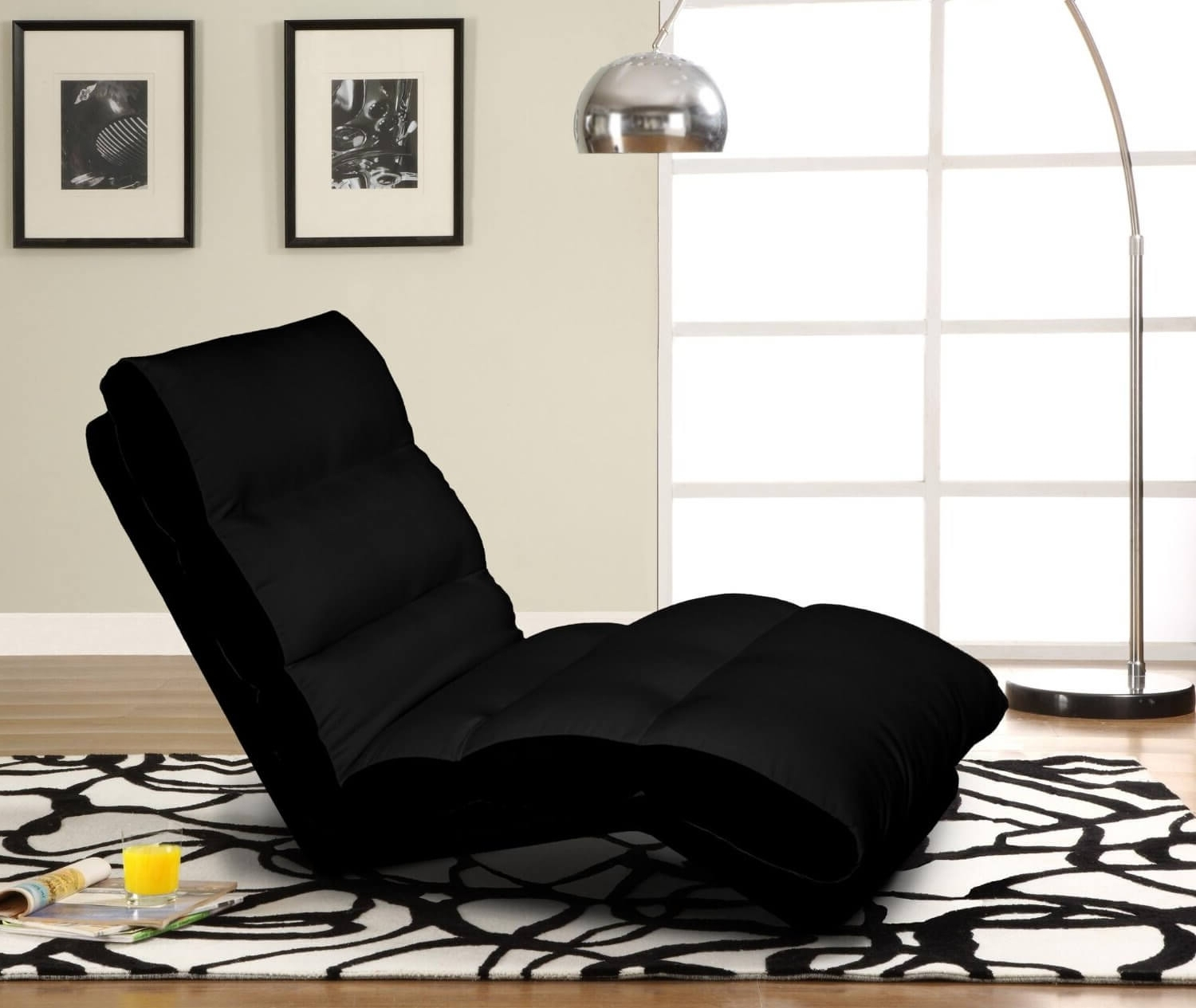 Most Current Convertible Chaise Lounges With Regard To Perfect Black Chaise Lounge Style — Awesome Homes (View 10 of 15)