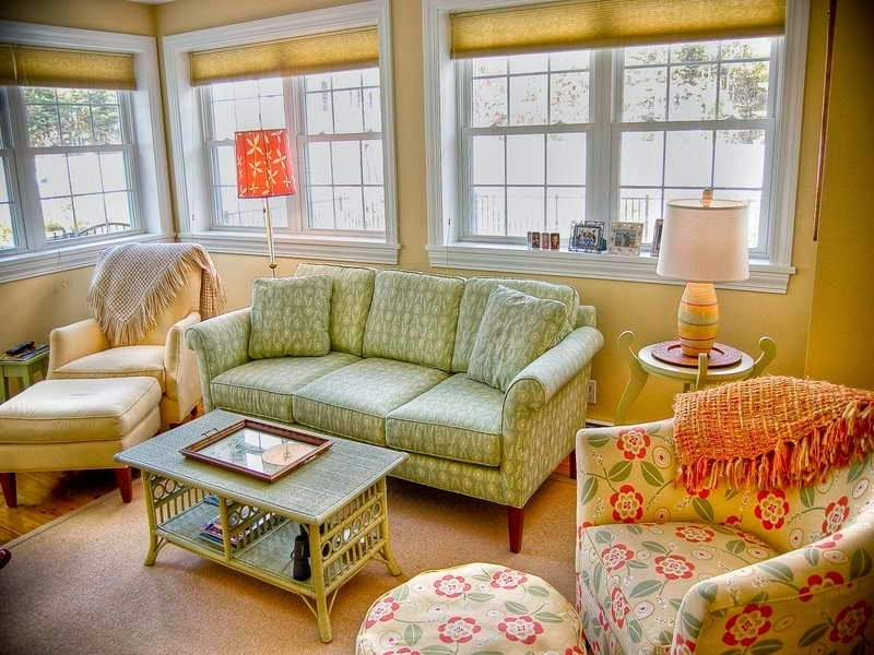 Most Current Country Cottage Sofas And Chairs With Regard To Country Cottage Style Living Room With Floral Sofa And Club Chairs (View 7 of 10)