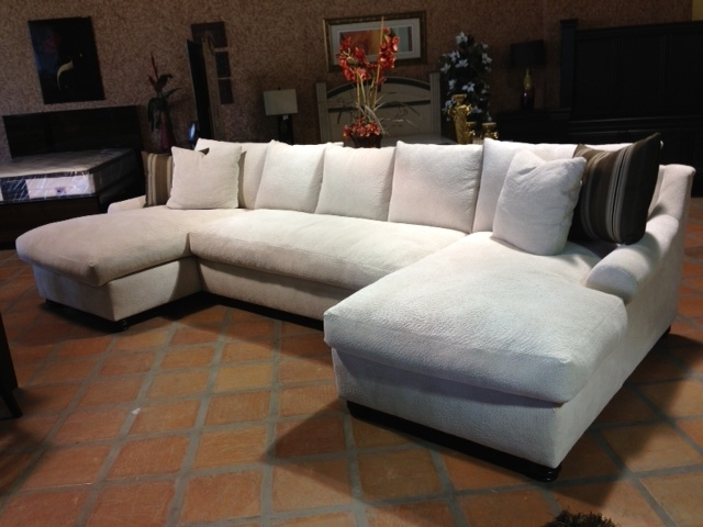 Most Current Down Feather Sectional Sofas Inside Bradly Double Chaise Feather Down Sectional (View 6 of 10)