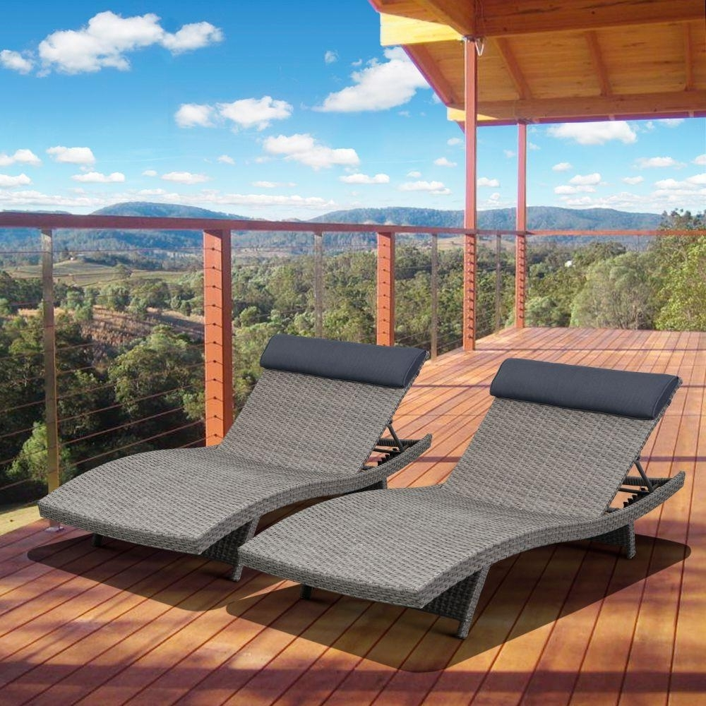 Most Current Extra Wide Outdoor Chaise Lounge Chairs Within Stackable – Patio Chairs – Patio Furniture – The Home Depot (View 9 of 15)