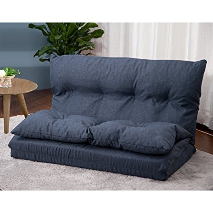 Most Current Floor Cushion Sofas Regarding Amazon: Merax Adjustable Fabric Folding Chaise Lounge Sofa (View 7 of 10)