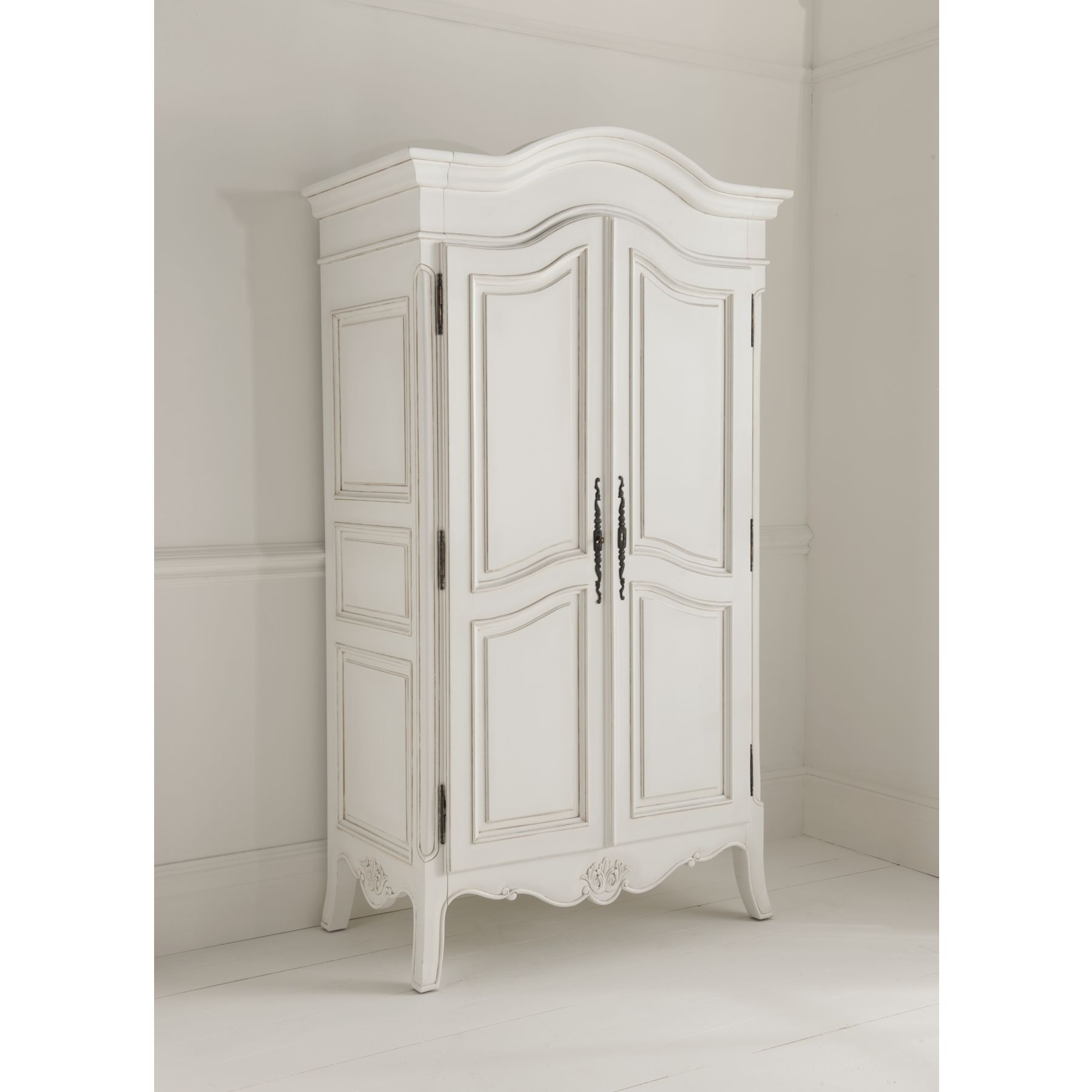 Most Current French Style White Wardrobes Throughout Paris Antique French Bed (Size: Super King) + Paris Antique French (View 10 of 15)