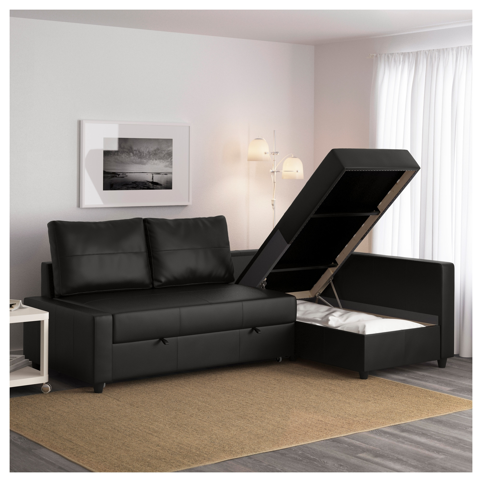 Most Current Friheten Sleeper Sectional,3 Seat W/storage – Skiftebo Dark Gray In Gray Couches With Chaise (View 15 of 15)