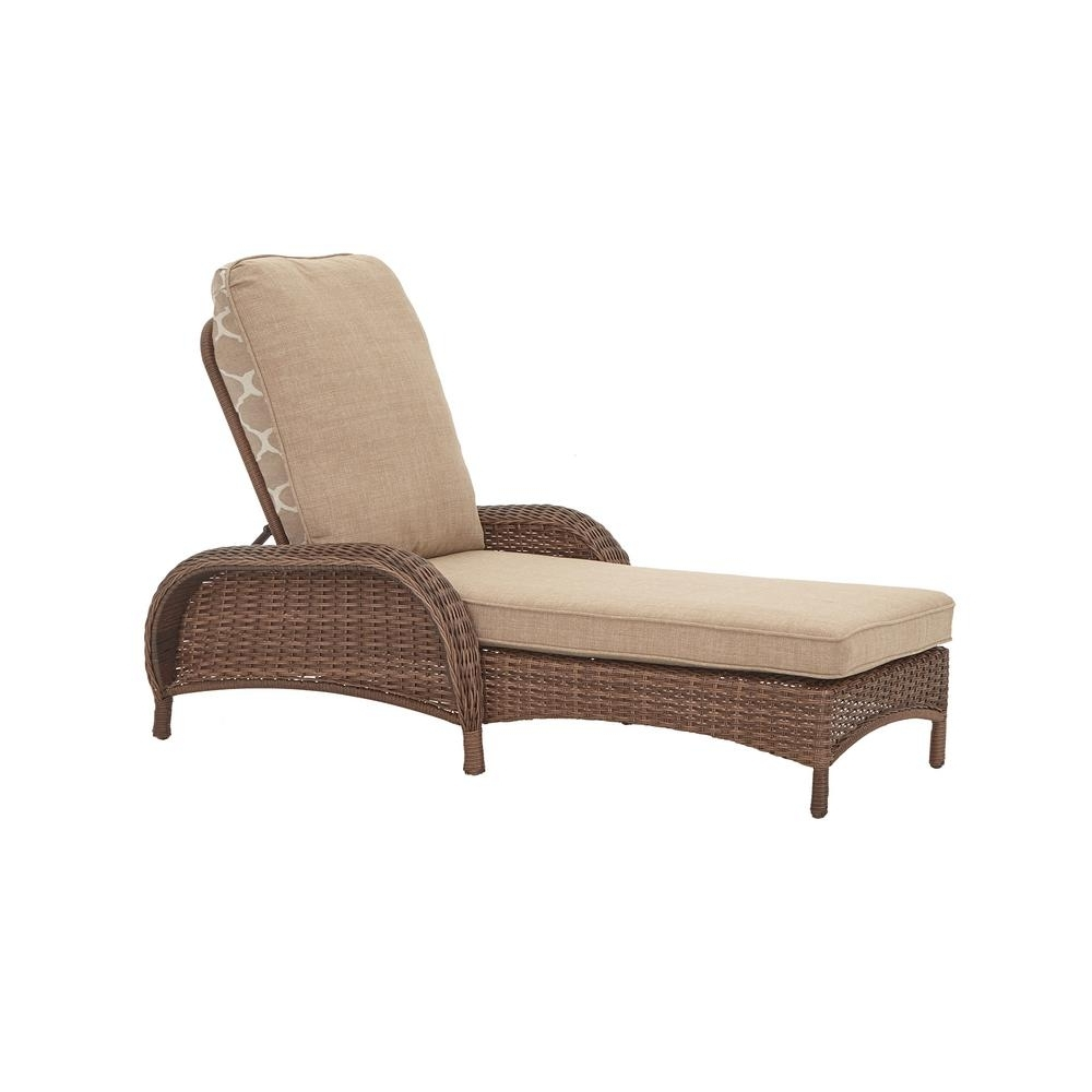 Most Current Hampton Bay Beacon Park Steel Wicker Outdoor Chaise Lounge With Within Hampton Bay Chaise Lounge Chairs (View 11 of 15)