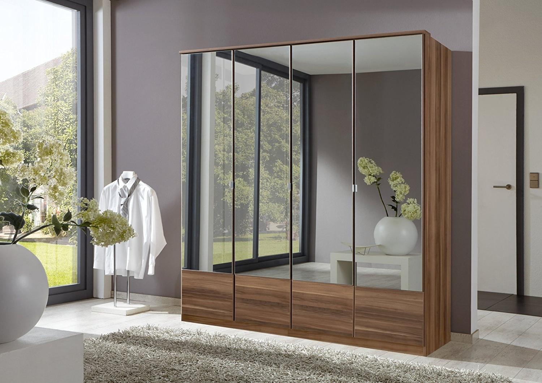 Most Current Imago 4 Door Mirrored Wardrobe: Amazon.co (View 7 of 15)